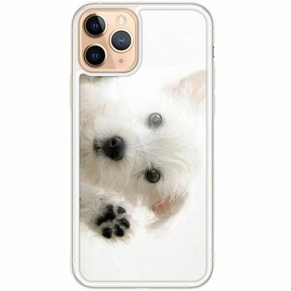 Apple iPhone 11 Pro Transparent Mobilskal med Glas Hund