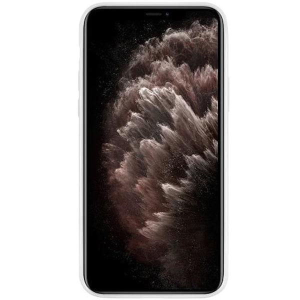 Apple iPhone 11 Pro Max Vitt Mobilskal med Glas Stickers