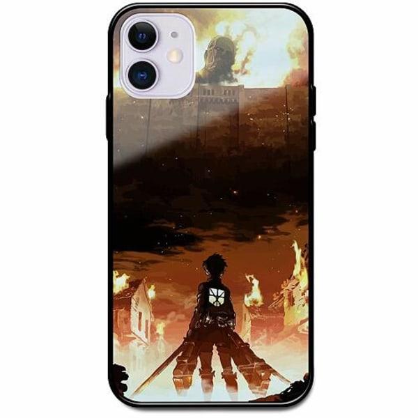 Apple iPhone 12 mini Svart Mobilskal med Glas Attack On Titan