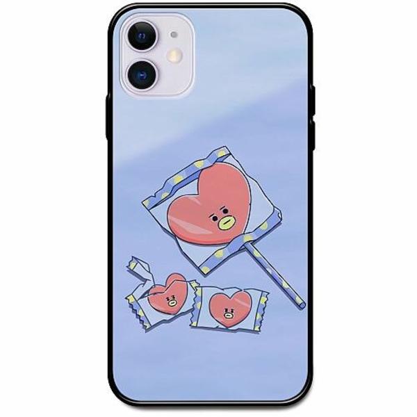 Apple iPhone 12 Svart Mobilskal med Glas Kawaii