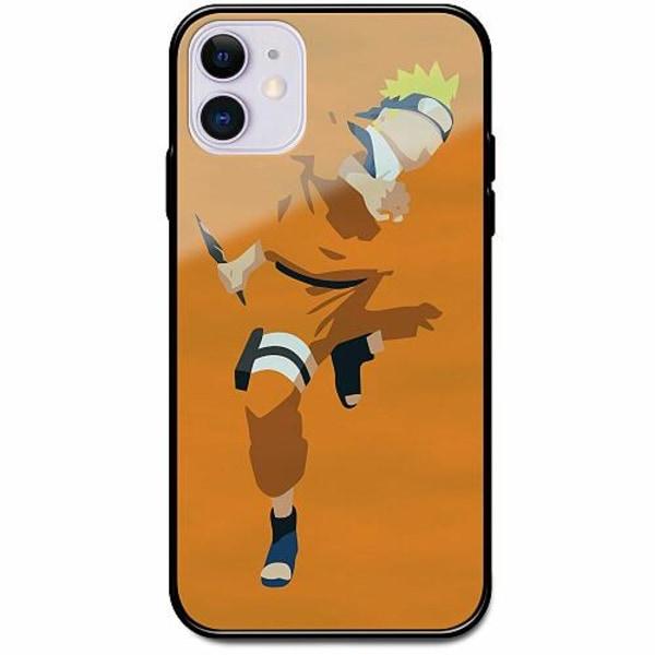 Apple iPhone 12 mini Svart Mobilskal med Glas Naruto