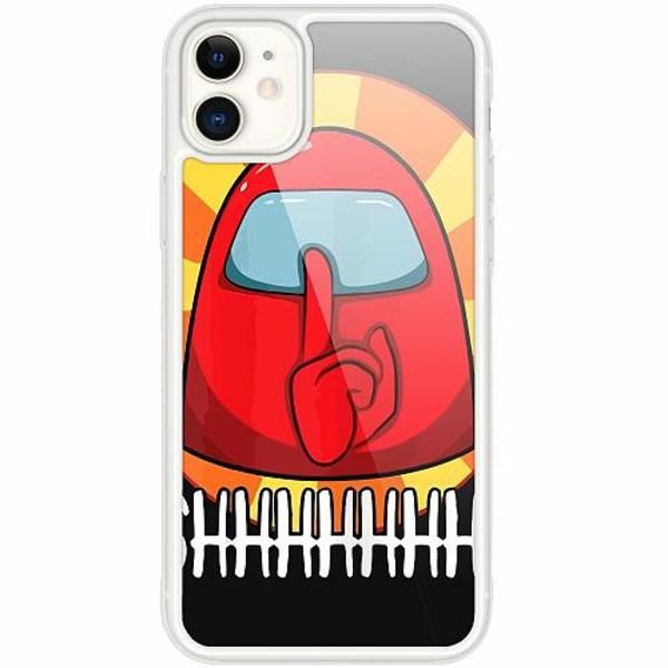 Apple iPhone 12 mini Transparent Mobilskal med Glas Among Us