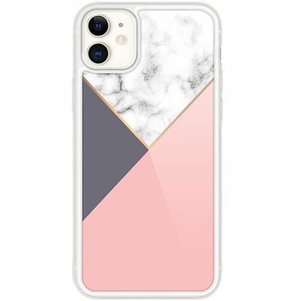 Apple iPhone 12 mini Transparent Mobilskal med Glas Marble Cut