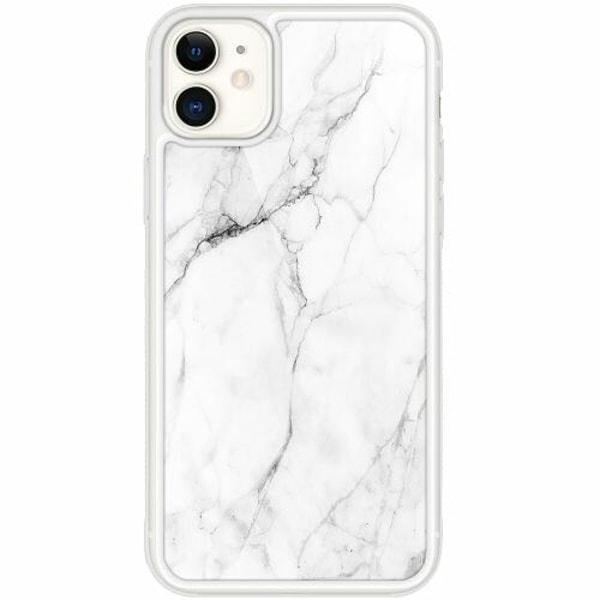 Apple iPhone 12 mini Transparent Mobilskal med Glas Marmor