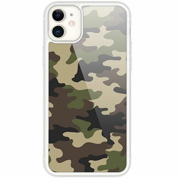 Apple iPhone 12 mini Transparent Mobilskal med Glas Militär