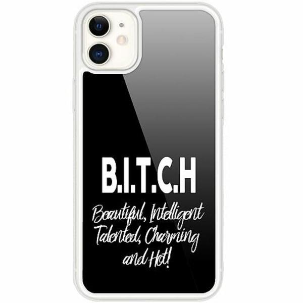 Apple iPhone 12 mini Transparent Mobilskal med Glas Text