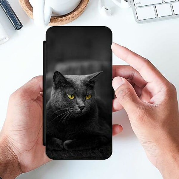 Huawei P Smart (2019) Slimmat Fodral Black Cat