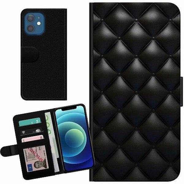 Apple iPhone 12 Billigt Fodral Leather Black