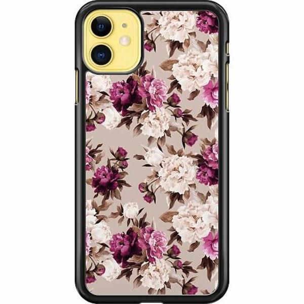 Apple iPhone 12 Hard Case (Black) Blommor
