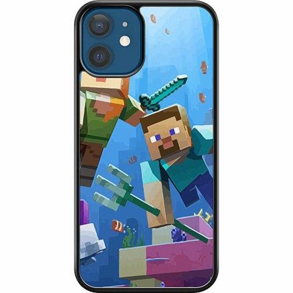 Apple iPhone 12 Hard Case (Svart) MineCraft