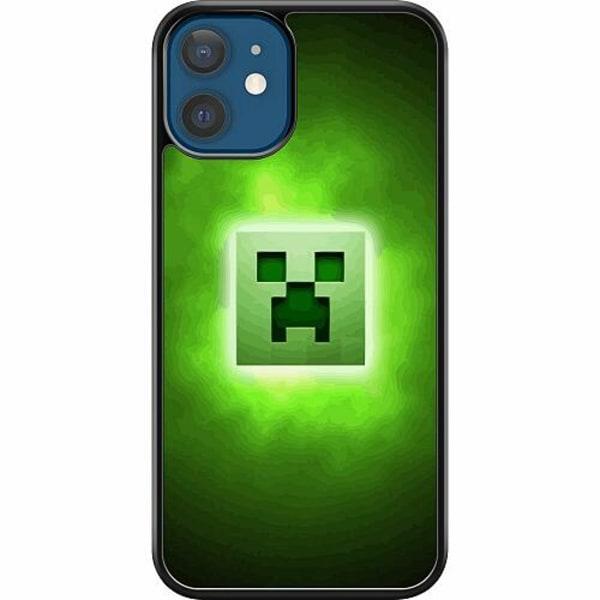 Apple iPhone 12 Hard Case (Svart) MineCraft Rainbow
