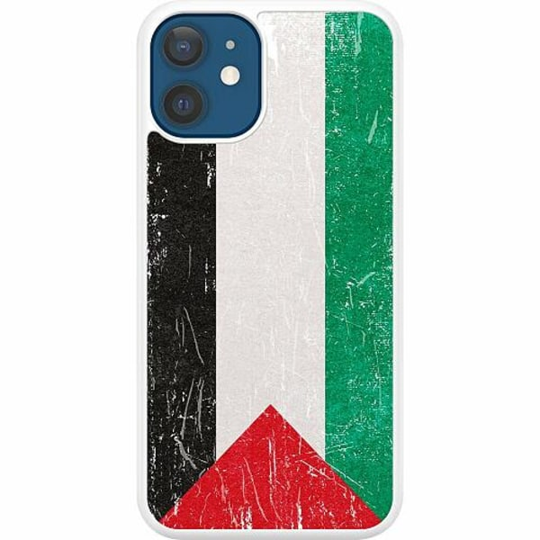 Apple iPhone 12 Hard Case (Vit) Palestina Flagga