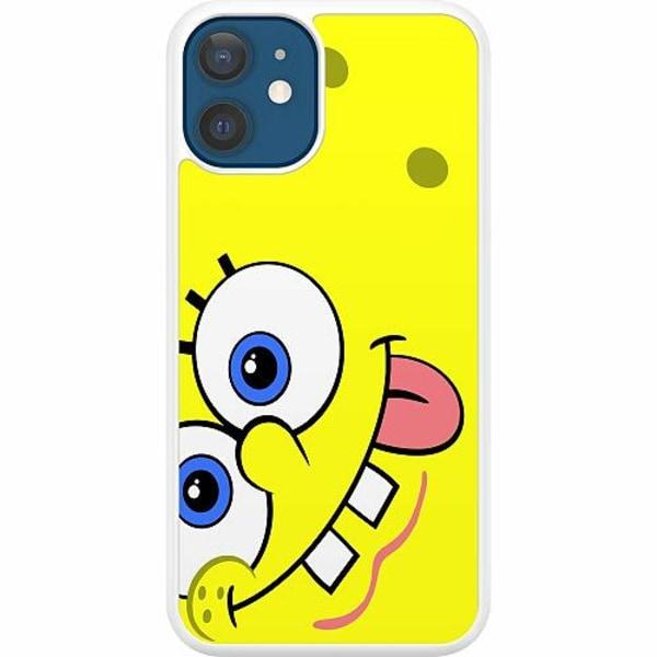 Apple iPhone 12 Hard Case (Vit) SpongeBob Fyrkant