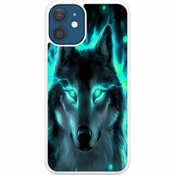 Apple iPhone 12 Hard Case (Vit) Statement Wolf 1055