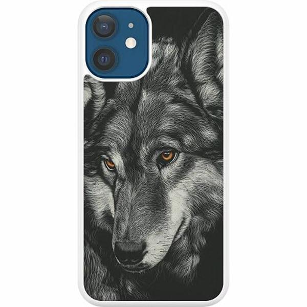 Apple iPhone 12 Hard Case (Vit) Wolf / Varg