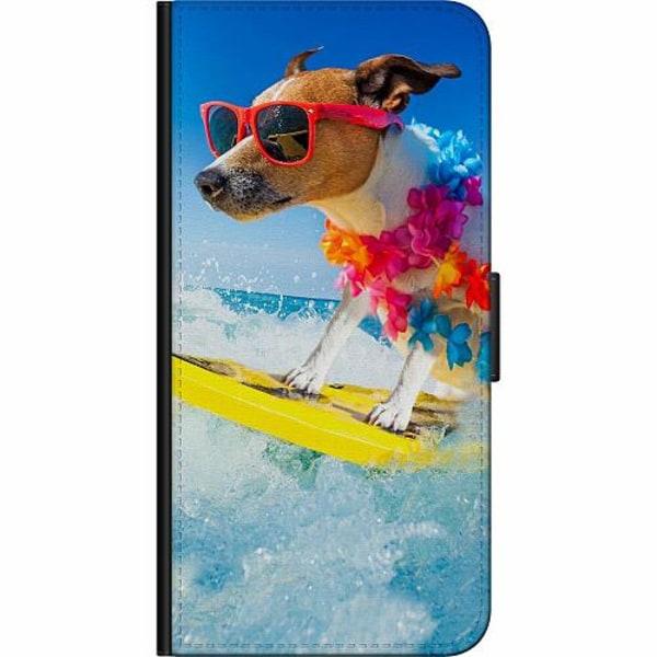 Samsung Galaxy S9 Billigt Fodral Surfer Dog