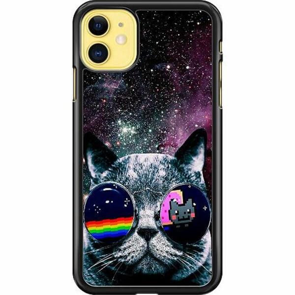 Apple iPhone 12 mini Hard Case (Black) Space Cat