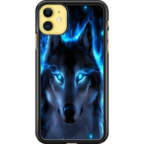 Apple iPhone 12 mini Hard Case (Black) Wolf