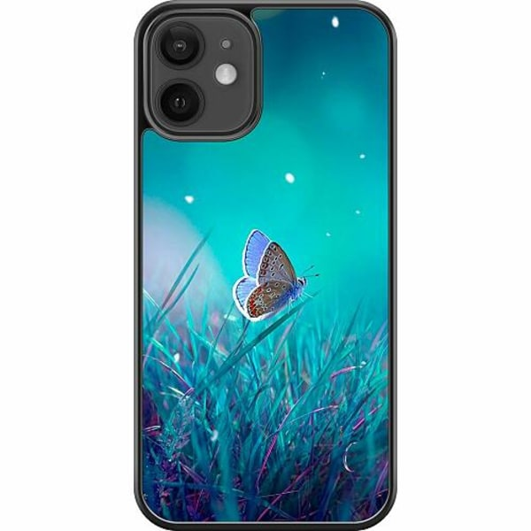 Apple iPhone 12 mini Hard Case (Svart) Magical Butterfly