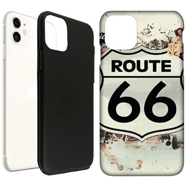 Apple iPhone 12 mini LUX Duo Case (Matt) ROUTE 66