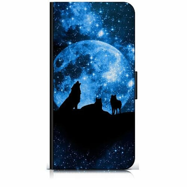 Apple iPhone 8 Plus Plånboksfodral Statement Wolf 1055