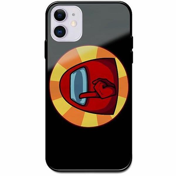 Apple iPhone 12 mini Svart Mobilskal med Glas Among Us