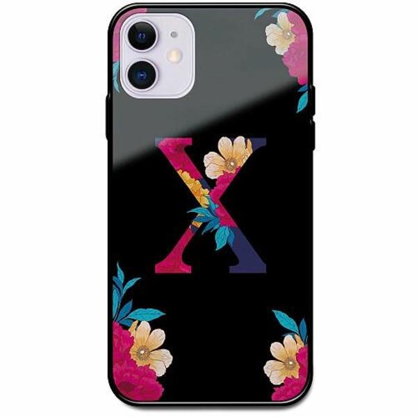 Apple iPhone 12 mini Svart Mobilskal med Glas Bokstaven - X
