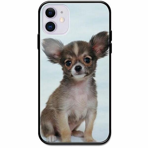 Apple iPhone 12 mini Svart Mobilskal med Glas Chihuahua