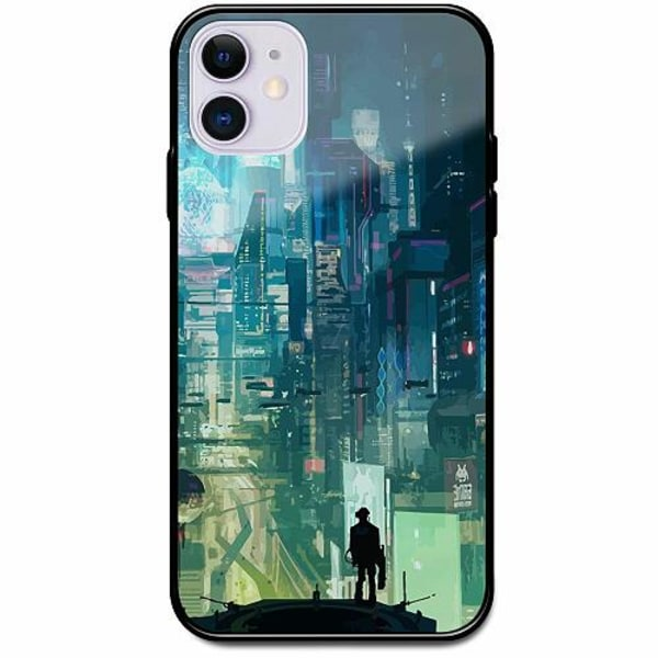 Apple iPhone 12 mini Svart Mobilskal med Glas Cyberpunk 2077