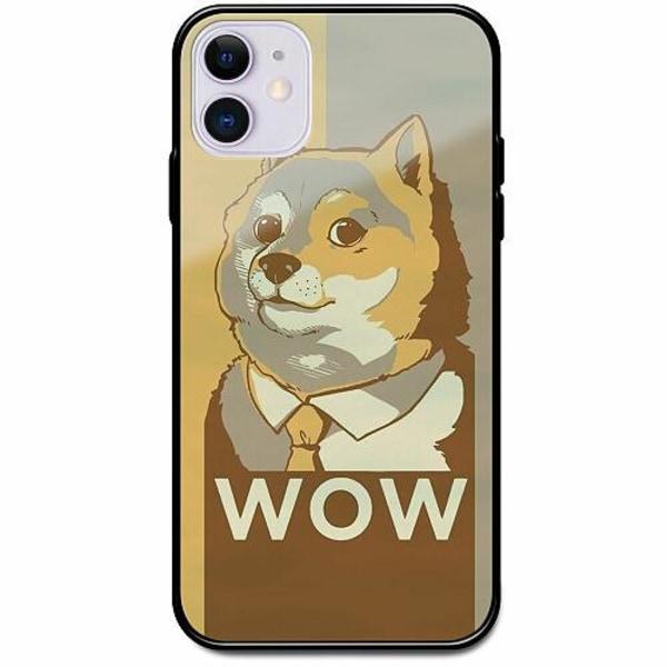 Apple iPhone 12 mini Svart Mobilskal med Glas Doge