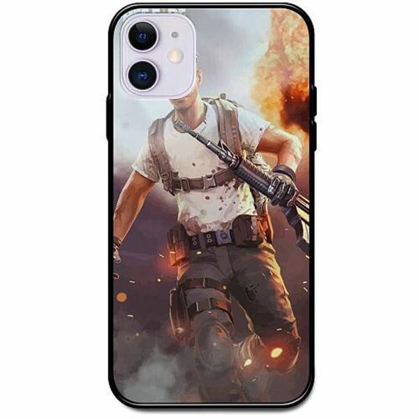 Apple iPhone 12 mini Svart Mobilskal med Glas Free Fire