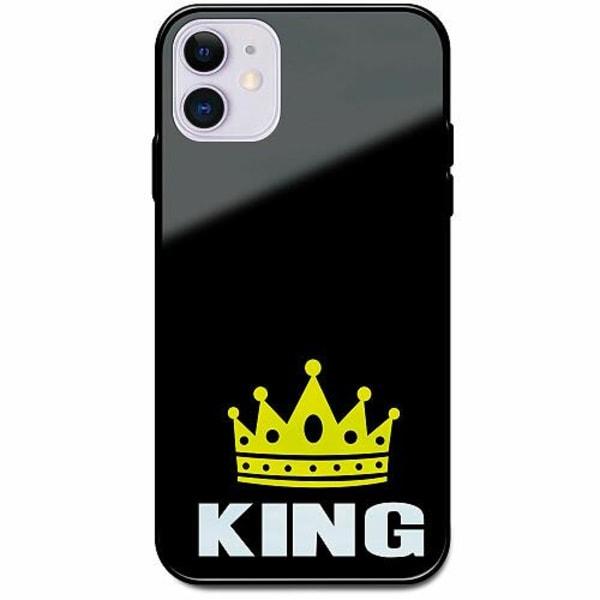 Apple iPhone 12 mini Svart Mobilskal med Glas King 01