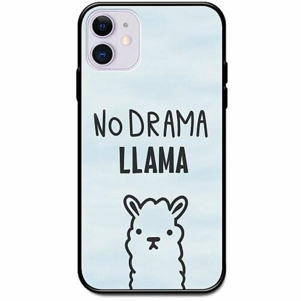 Apple iPhone 12 mini Svart Mobilskal med Glas Llama Drama