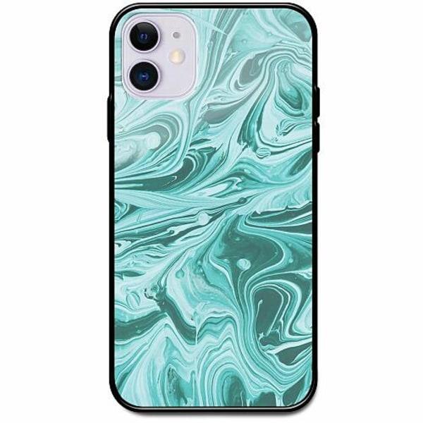 Apple iPhone 12 mini Svart Mobilskal med Glas Marmor