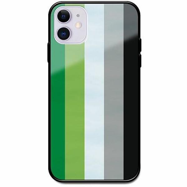 Apple iPhone 12 Svart Mobilskal med Glas Pride - Aromantic