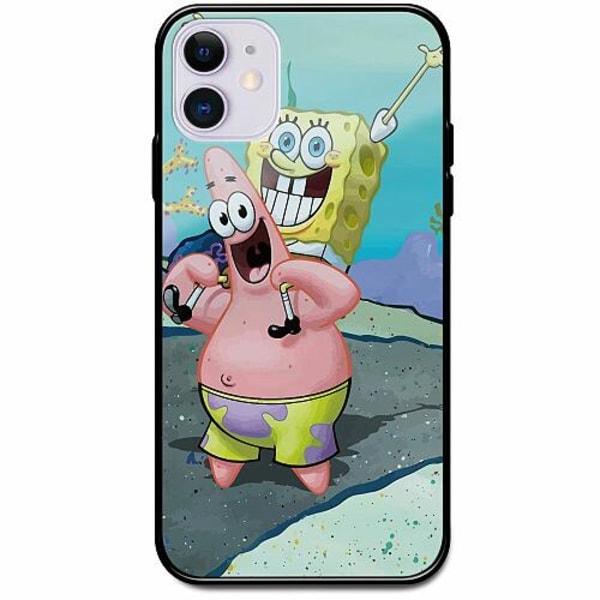 Apple iPhone 12 Svart Mobilskal med Glas SpongeBob Fyrkant