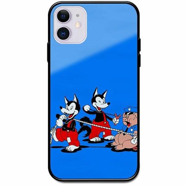 Apple iPhone 12 mini Svart Mobilskal med Glas Wolves