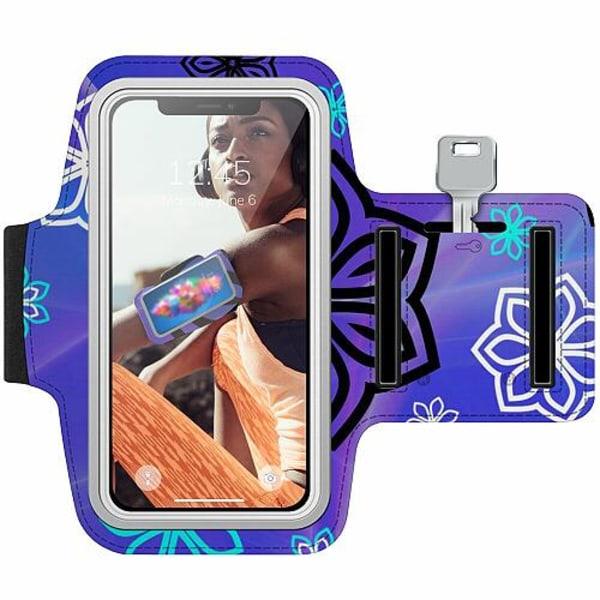Nokia 7 Plus Träningsarmband / Sportarmband -  Flower on LCD
