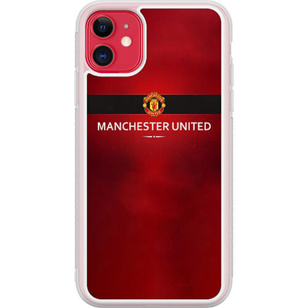 Apple iPhone 12 mini Transparent Mobilskal Manchester United