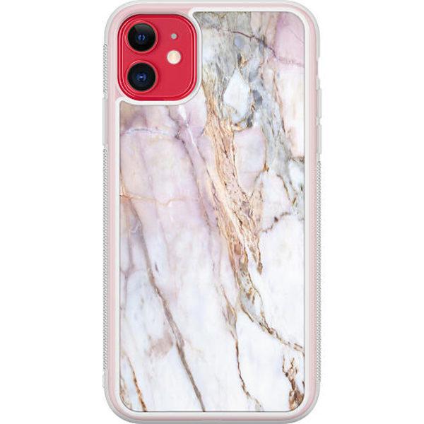Apple iPhone 12 Transparent Mobilskal Marmor