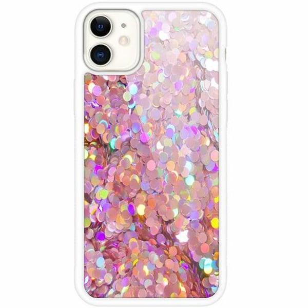 Apple iPhone 12 mini Vitt Mobilskal med Glas Glitter