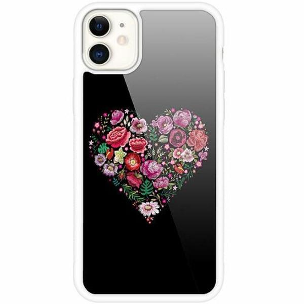 Apple iPhone 12 mini Vitt Mobilskal med Glas HEARTIN'