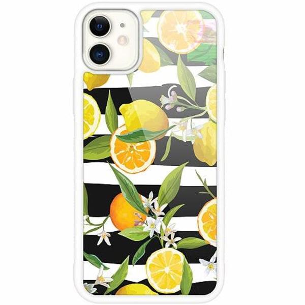 Apple iPhone 12 mini Vitt Mobilskal med Glas Lemon Party