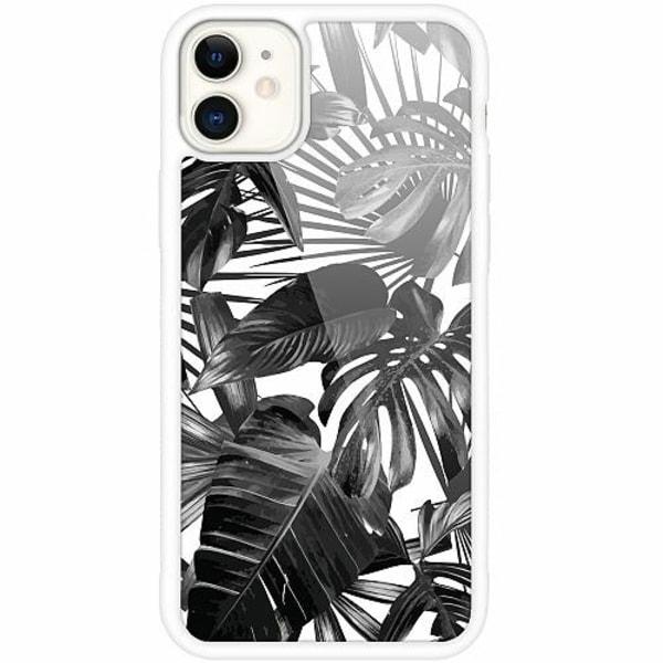 Apple iPhone 12 mini Vitt Mobilskal med Glas Löv
