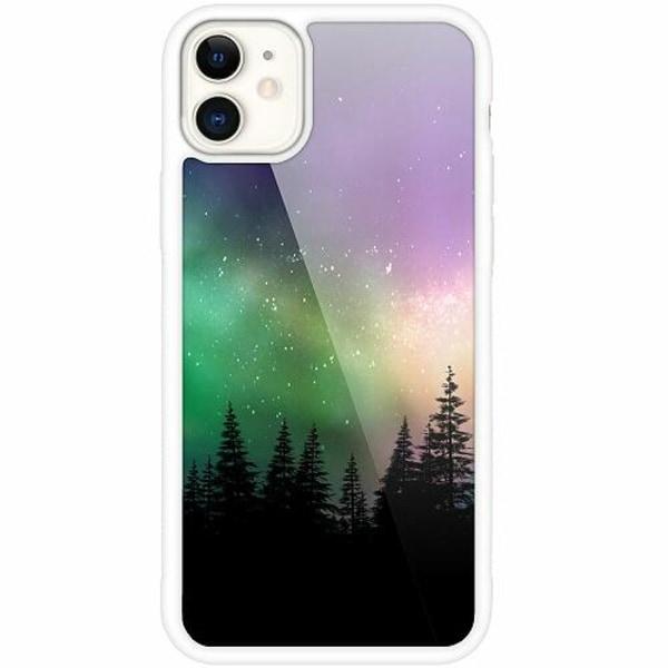 Apple iPhone 12 mini Vitt Mobilskal med Glas Northern Lights