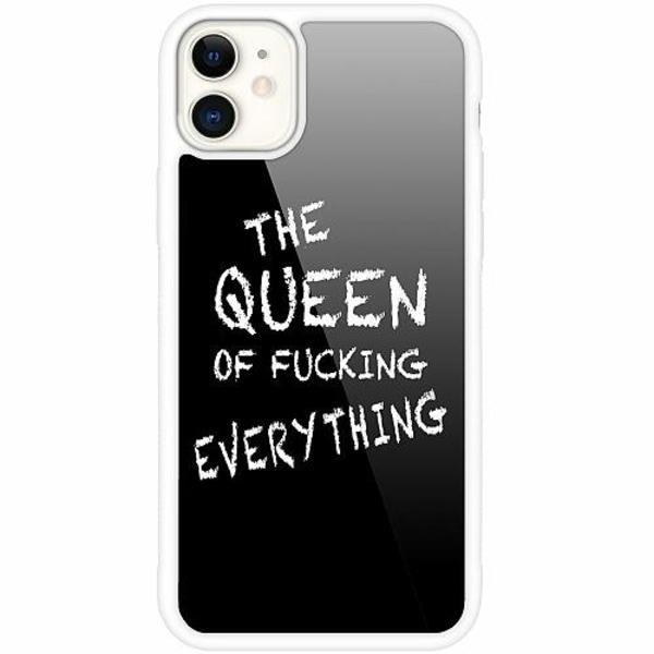 Apple iPhone 12 mini Vitt Mobilskal med Glas Queen of Everything