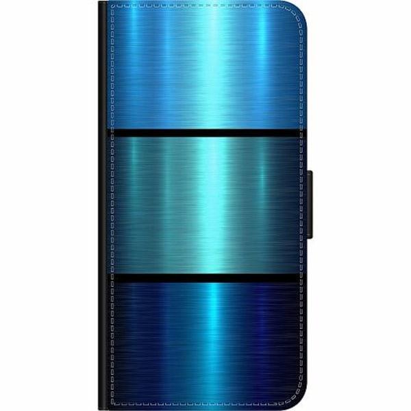 OnePlus Nord Wallet Case Blue Metallic Stripes