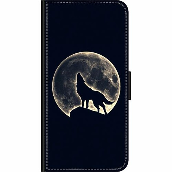 Samsung Galaxy Note 10 Plus Wallet Case Howling Moon Wolf