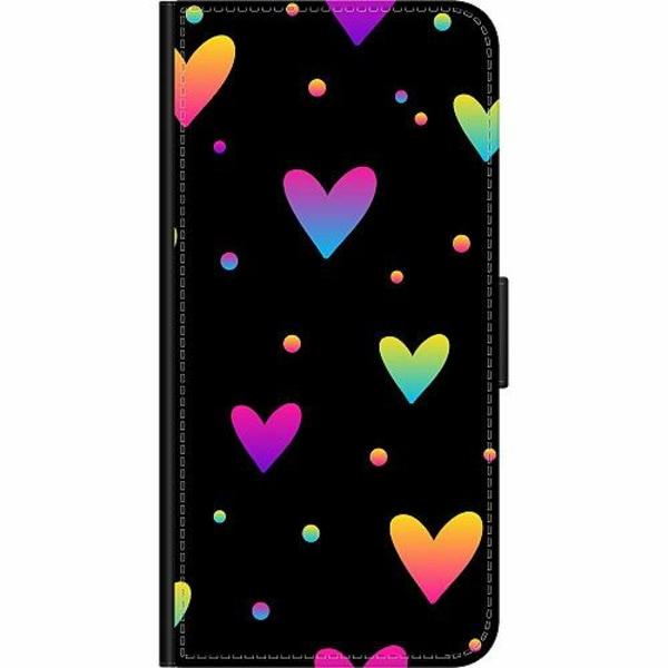 Samsung Galaxy S21 Wallet Case Neon Hearts