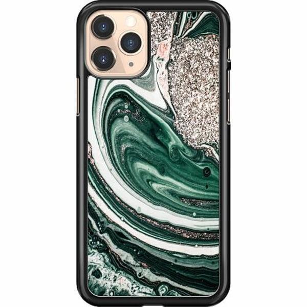 Apple iPhone 11 Pro Hard Case (Svart) Grön